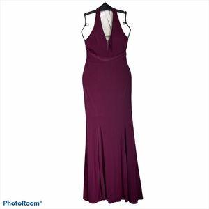 Morgan & Co. Merlot Junior Halter Long Dress sz 3
